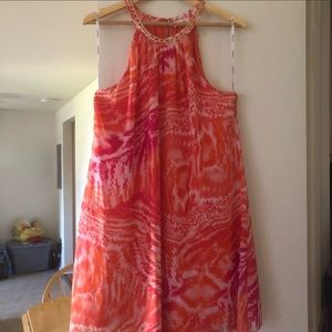🌼Dress Sale🌼 Floral Orange Pink Dress on Sale.